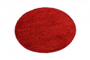 Dywan shaggy TOKYO 6365A DO SALONY GŁADKI JEDNOKOLOROWY ŁADNY czerwony
