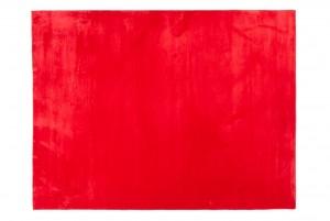 Dywan pluszowy RABBIT MIĘKKI SOFT GŁADKI MIŁY ŁADNY PLUSZOWY czerwony