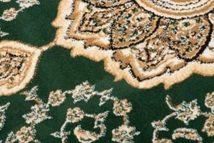 Dywan nowoczesny C576G GREEN/ BALI PP kremowy