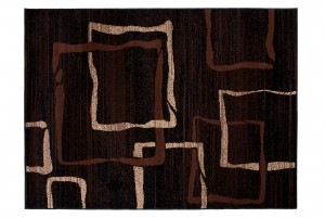 Dywan tradycyjny 3871 BLACK/ SCARLET brązowy
