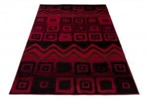 Dywan tradycyjny 3907 /BLACK/CARAMEL SCARLET czerwony