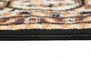 Dywan nowoczesny C512F BLACK/ BALI PP kremowy