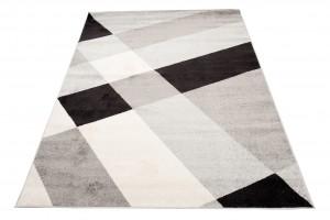 Dywan nowoczesny COSMO F140D DO SALONU ŁADNY WZORY GEOMETRYCZNE biały
