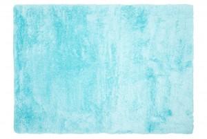 Dywan pluszowy BIRD FEATHER GŁADKI MIĘKKI DO SALONU niebieski