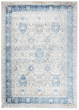 Dywan VALLEY  D713B WHITE BLUE