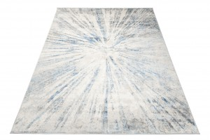 Dywan nowoczesny D149B L.GREY VALLEY niebieski