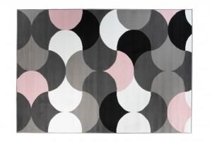 Dywan młodzieżowy PINKY Kolorowe wzory szary